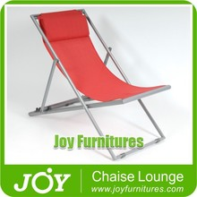 Red Color Folding Beach Lounge With Pillow Lounger
