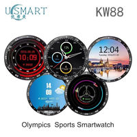 android mediatek smart watch KW88 Amoled custom phone with android 5.1 and bluetooth 4.0 connected with bluetooth headphones
