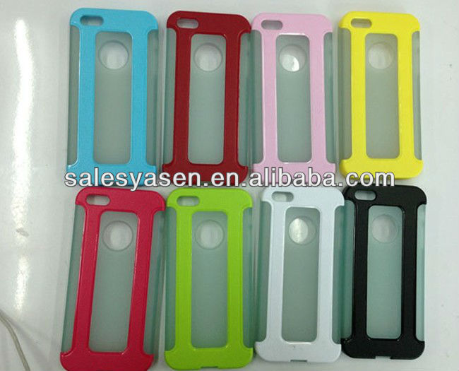 For iphone 5 case PC+TPU gel tpu case for iphone 5