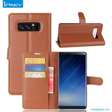 Custom Low Price Pu Leather Mobile Flip Cover Cases For Samsung Galaxy Note8