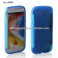 blue transparent tpu gel case for Samsung Grand i9080