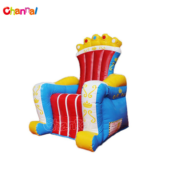 Hot Selling Birthday Party King Queen Throne Inflatable Chair Advertising For Kids