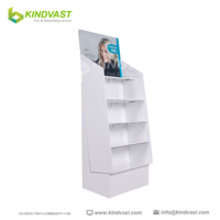4 tier cardboard display standing for Hat and scarf retail