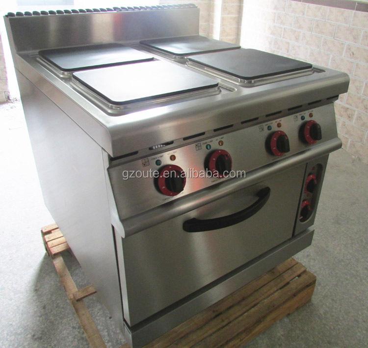 Free Standing Electric Cooking Range 4 Head Heating