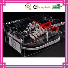 fashion transparent acrylic nike shoe box