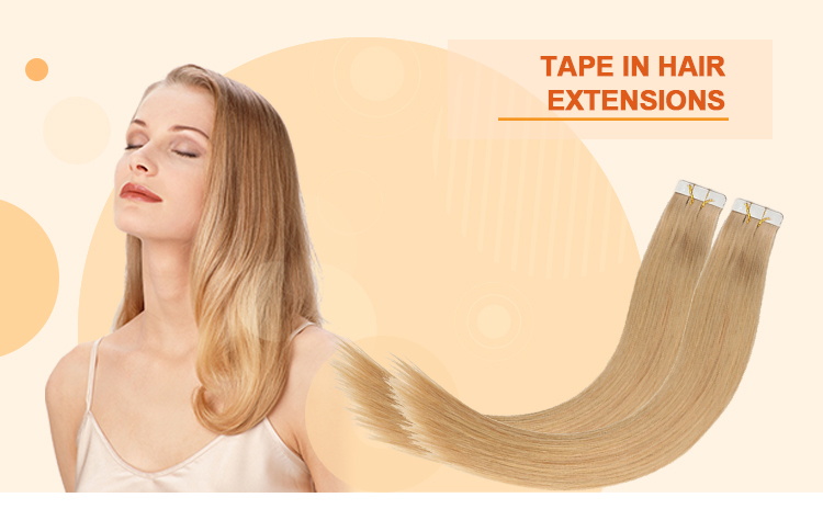 XDhair 50g rams 20 pcs per bag colour 18 ash blonde best quality full cuticle tape in remy human hair extensions of blond hair
