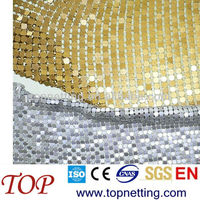 Aluminum metallic curtain/ metal mesh curtain / coil drapery