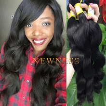 Newness hair deep wave 3 bundles yaki curly hair grade 7a virgin hair straight 30inches