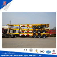 skeleton container transport chassis semi-trailer
