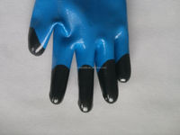 13g polyester nitrile coated western safety gloves labor Refuse Collection