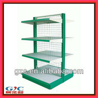 Metal Wire Mesh Gondola Double Sided Supermarket Rack