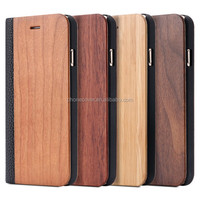 mobile cover flip wood phone case for iphone6,luxury PU leather wooden cell phone case for iphone 5,for iphone6