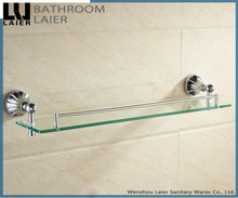 11137 modern bathroom vanity family use chrome finishing zinc alloy glass shelf support