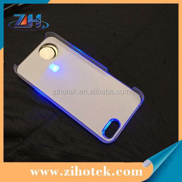Hard PC Sublimation LED Case for iPhone 5/5s with sublimation aluminum insert