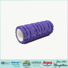 colorful OEM private label eva hollow grid yoga foam roller
