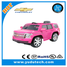 License 6V Chevy Tahoe Pink,baby electric car,double seat ,battery powered Mp3 remote control ride on toys