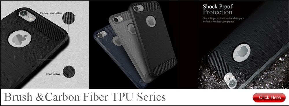 Carbon Fiber Brush TPU Mobile Phone Back Case Cover For Huawei Mate 8