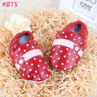 Baby Girls Super Soft Leather Shoes Wholesale Baby First Walker Shoes Polka Dot Baby Shoes