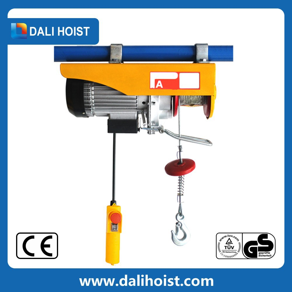 Electric 3 Phase Motor Hoist Wireless Remote Control Lifting Equipment Suspending Mini Electric Hoist