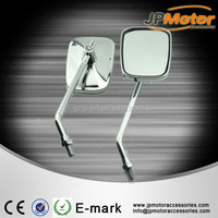 Chrome Big Custom Rearview Side Mirrors For Cruiser Chopper Motorcycle 10mm Bolt