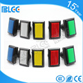 51*34mm rectangle led light Illuminated pushbutton arcade machine push button switch