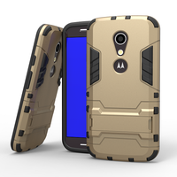 Wholesales Iron-Bear Rugged Hybrid Stand Shockproof Mobile Phone Case Cover For Moto G2