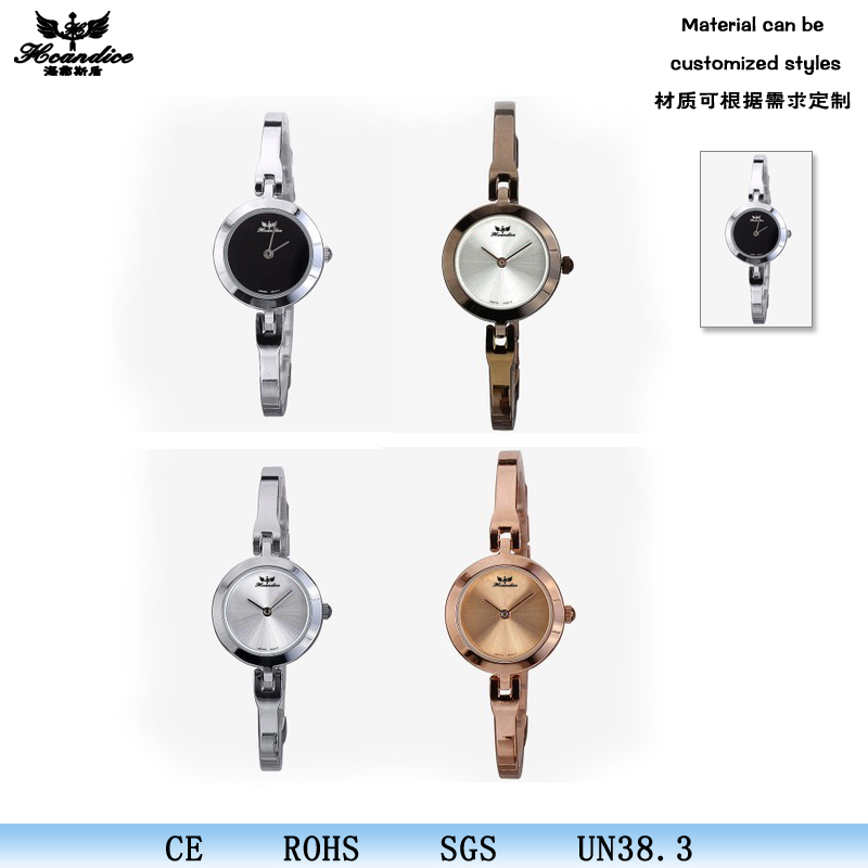 Luxury rhinestone quartz lady birthday gifts thin korean bangle watch for small wrist
