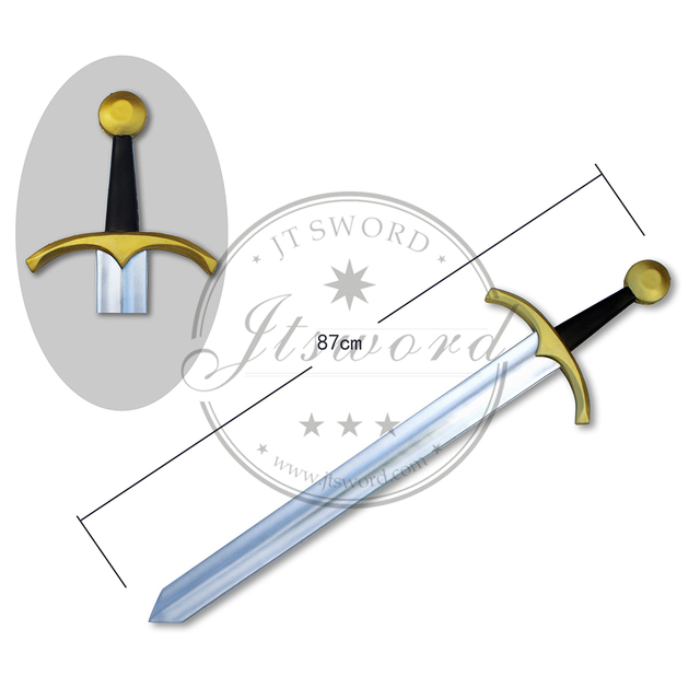 pu foam plastic medieval toy sword for kids
