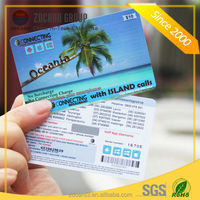 Best selling promotional PVC/PET scratch calling card