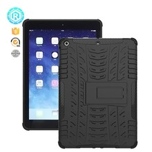 shockproof pc tpu dazzle hybrid tablet case for ipad 5 , Kickstand tablet case for Ipad air cover 2 in 1