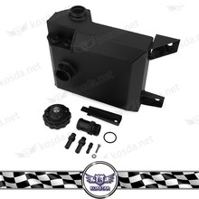 auto spare parts car aluminum black coolant overflow tank reservoir kit