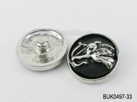 20mm Engraved angel metal black button snaps