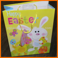 Happy Easter Medium Gift Bags Bunny OR Chick Design Matching Tag & Rope Handles