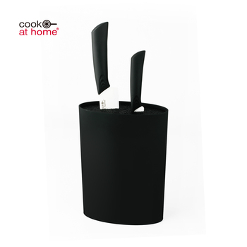 Best Selling Kitchen Accessories Plastic Knife Holder Block Black