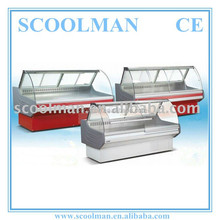 Refrigerated Fixed Glass Display Case with Light