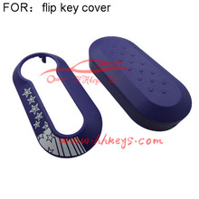 Cheap and nice flip Square plastic Car Key Protective cover for Fiat 500
