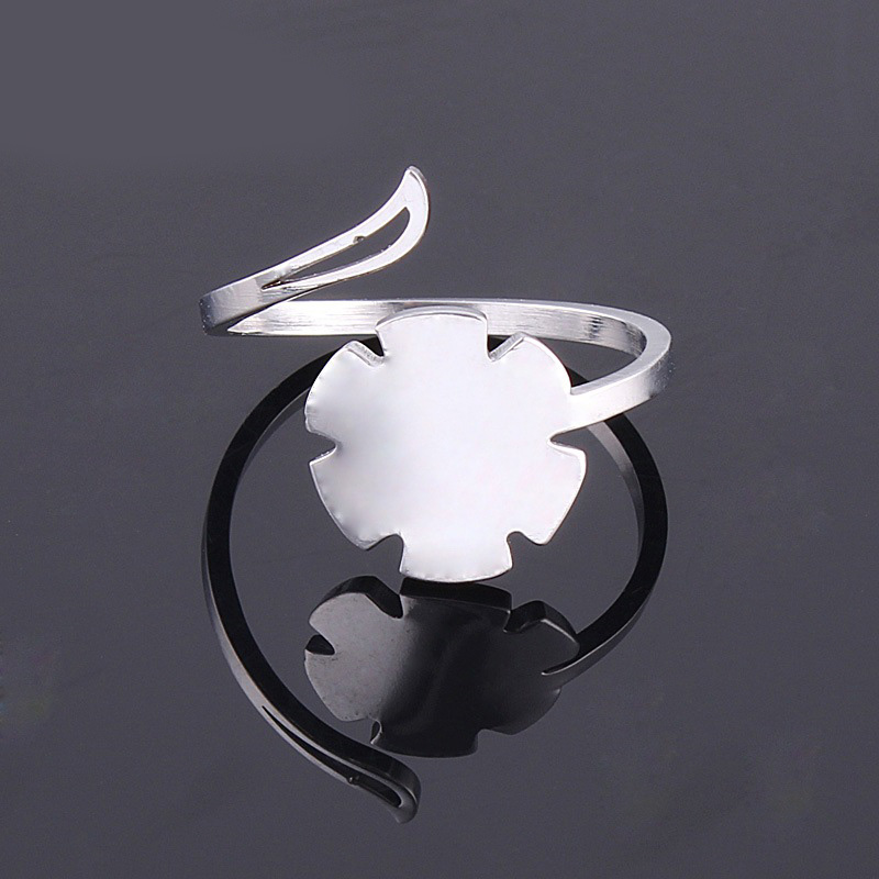 Unique Style Geometric Shape Fashion Accessories Adjustable Simple Gold Ring Designs for Fancy Girl