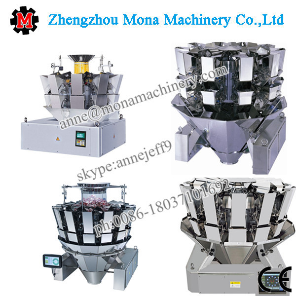 PLC control 14 head multihead combination weigher with CE for Jelly drops packaging