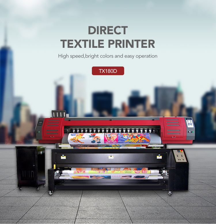 Excellent quality natural fiber digital textile printer bed sheet fabric printing machine