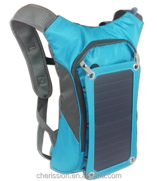 solar hydration bag backpack with water bladder