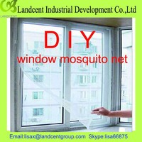 removable window screen,adhesive velcro mosquito net for window