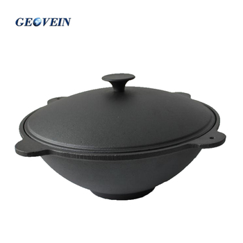 High quality 4.5L-25L kazan pot preseasoned Cast Iron camping jambalay pots and pans