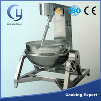 Factory price stainless steel tilting steam cooking kettle with agitator