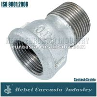 Malleable Iron Gas Pipe Fittings Male and Female Adapter Coupling