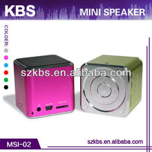 2014 Newest And Popular Sound Cube Speaker Mini Cube Speaker With TF Card Port