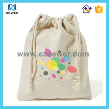 Foldable funky fashion high quality colorful promotional canvas drawstring backpack bag