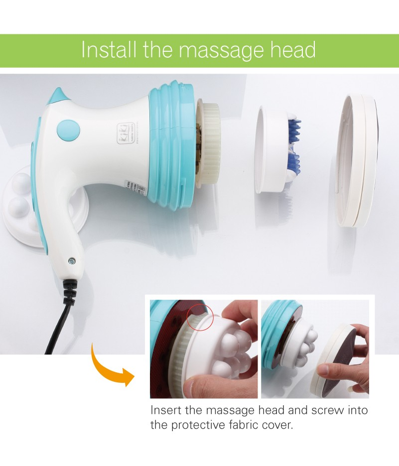 Vibration massager. Roller massage. Infrared LED light electric slimming massager