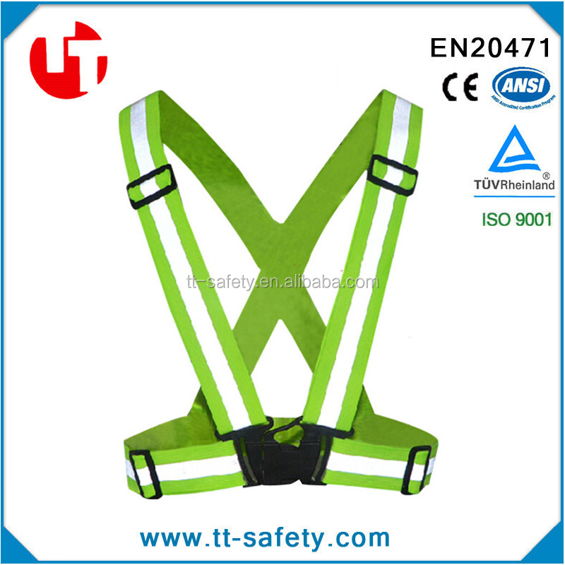 running construction work walking the dogs travelling riding bicycle reflective safety vest sports gear