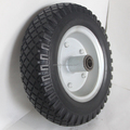 12x3.00-5 12 Inch Flat Free PU Foam Wheel For Trolley And Wheelchair