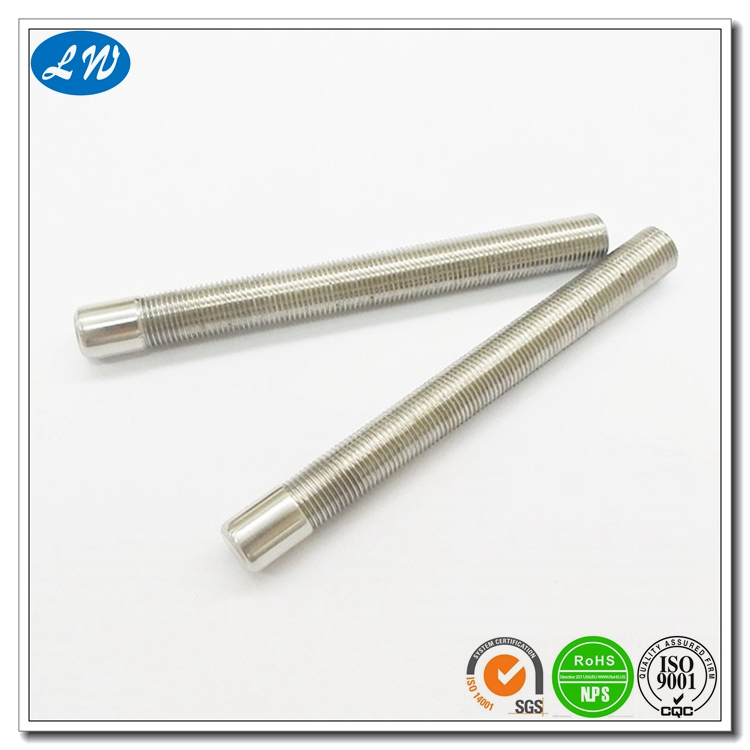 China factory supply high quality & precision stainless steel threaded screw shaft according to drawing